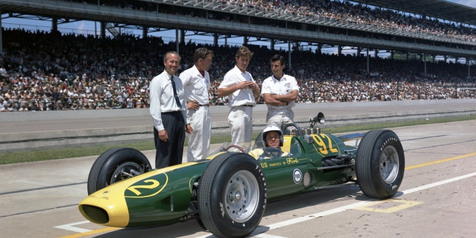 Jim Clark, Colin Chapman, Indy 500 - 1965